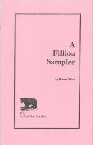 FILLIOU, ROBERT - A Filliou Sampler