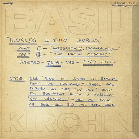 KIRCHIN, BASIL - Worlds Within Worlds: Part I And II
