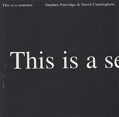 CUNNINGHAM & STEPHEN PARTRIDGE, DAVID - This Is A Sentence