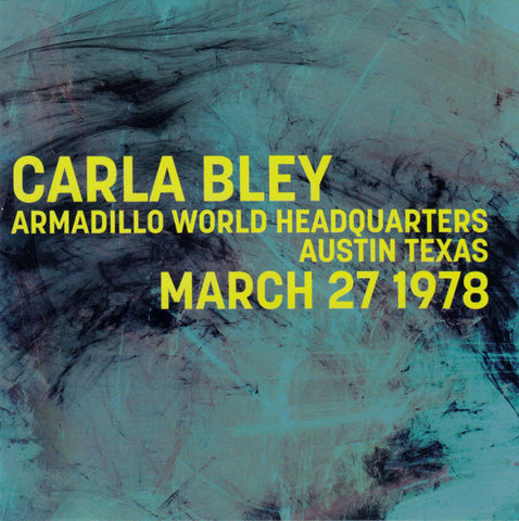 fusetron BLEY, CARLA, Armadillo World Headquarters Austin Texas March 27 1978