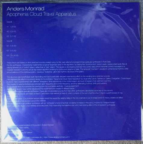 MONRAD, ANDERS - Apophenia Cloud Travel Apparatus