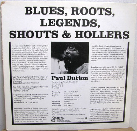 fustron DUTTON, PAUL/P.C. FENCOTT, Blues, Roots. Legends, Shouts & Hollers