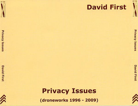 fusetron FIRST, DAVID, Privacy Issues (Droneworks 1996-2009)
