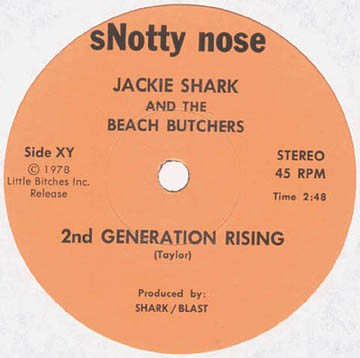 fusetron JACKIE SHARK AND THE BEACH BUTCHERS, 2nd Generation Rising/Mary Lou