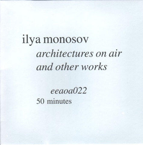 fustron MONOSOV, ILYA, Architectures on Air and Other Works
