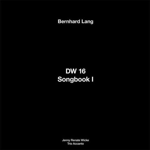 fusetron LANG, BERNHARD, DW 16 / Songbook I