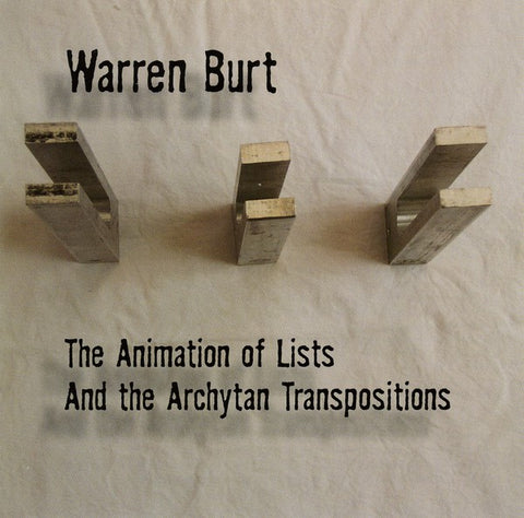 fusetron BURT, WARREN, The Animation of Lists and the Archytan Transpositions