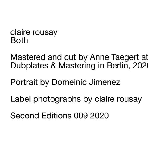 ROUSAY, CLAIRE - Both