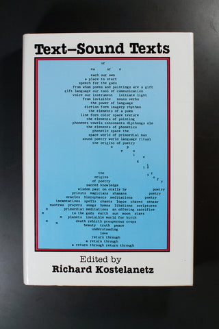 KOSTELANETZ, RICHARD - Text-Sound Texts