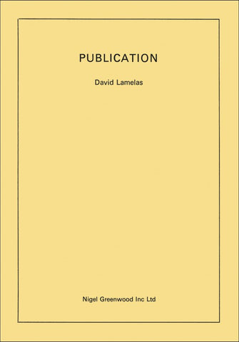 LAMELAS, DAVID - Publication
