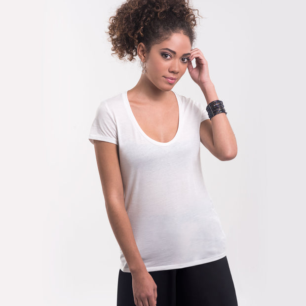Women Scoop Neck Tee, 100% Organic Peruvian Pima Cotton