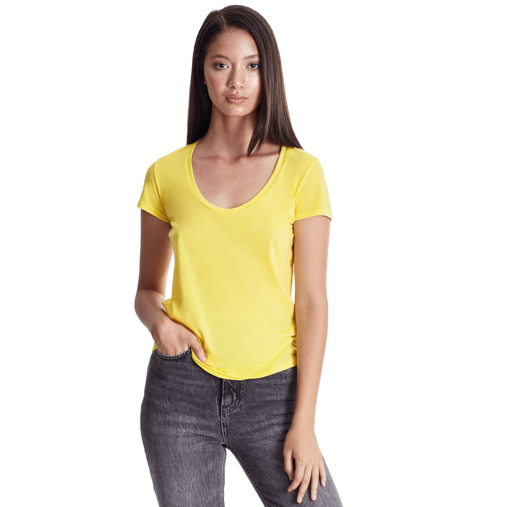 Women's Scoop Neck Tee, 100% Organic Peruvian Pima Cotton