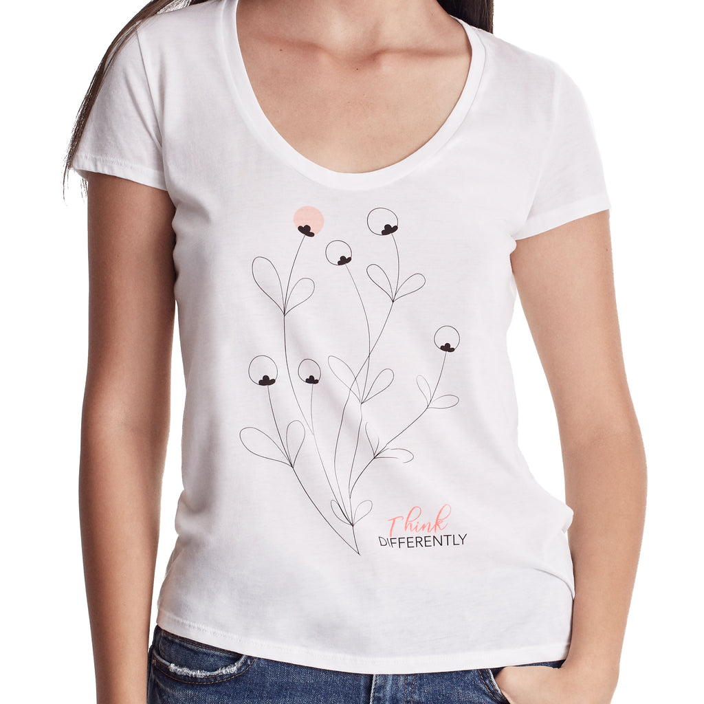 Women THINK DIFFERENTLY Graphic Tee