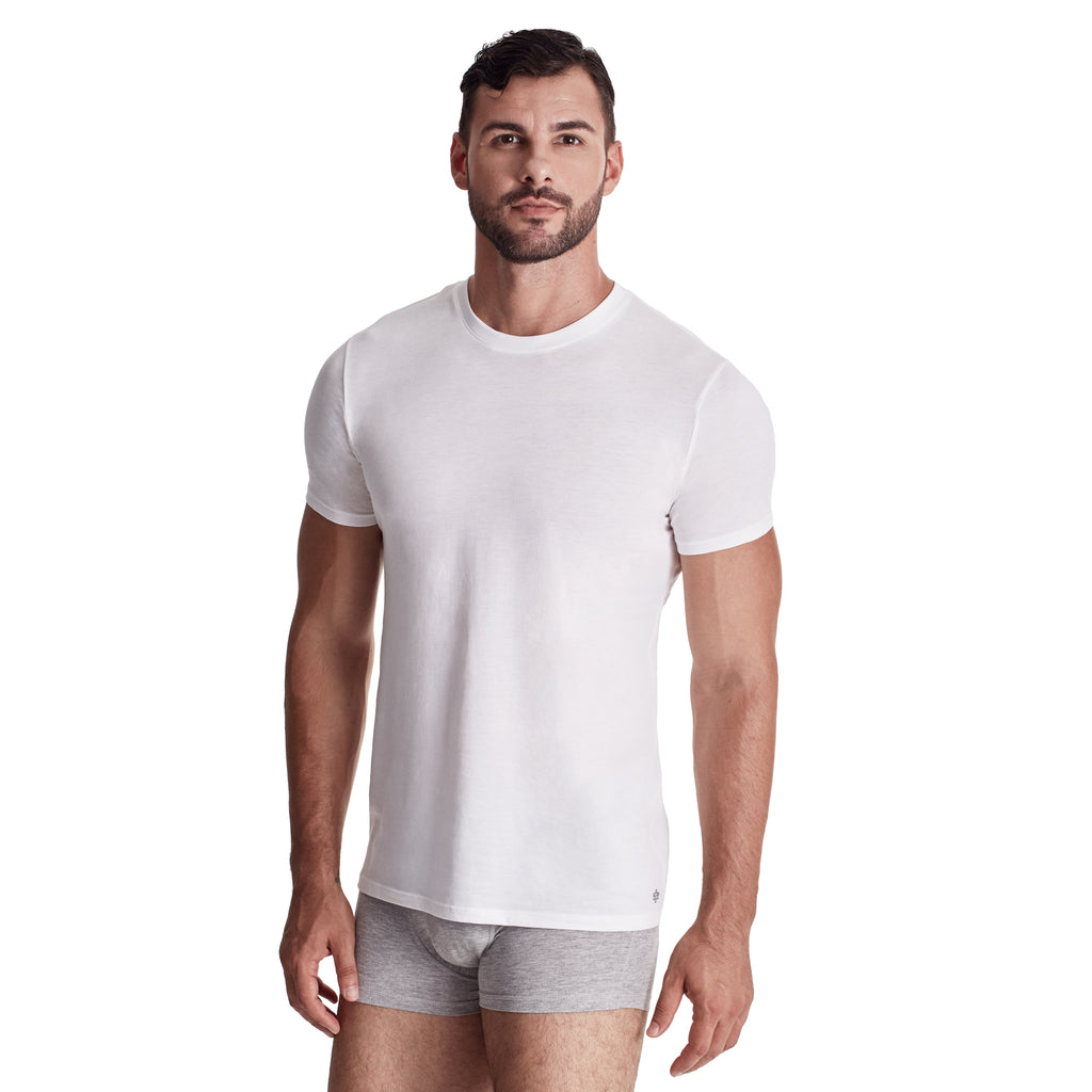 Men's Crew Undershirt, 100% Organic Peruvian Pima Cotton
