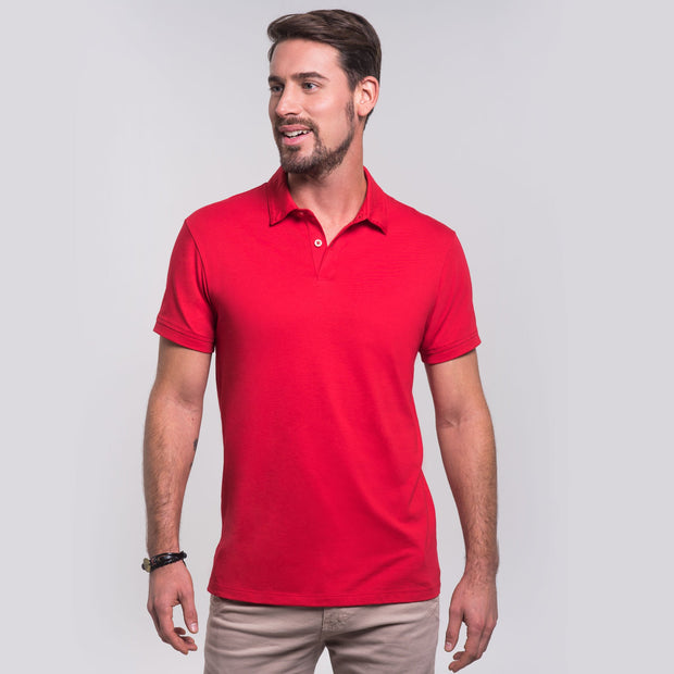 Men Polo, 100% Organic Peruvian Pima Cotton Jersey