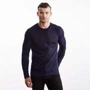 Men Long Sleeve Crew Tee, 100% Organic Peruvian Pima Cotton