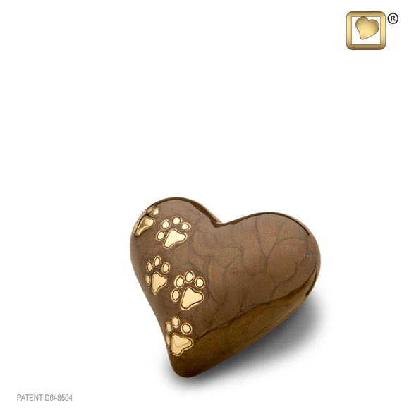 LovePaws™ Pearlescent Bronze (Keepsake Heart) - P639K