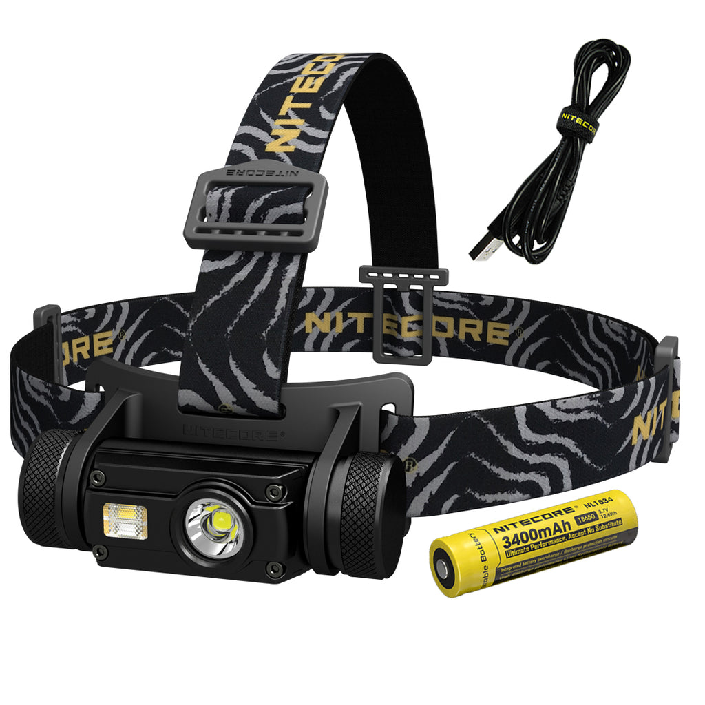 Nitecore HC65 1000 Lumen White/High CRI/Red Light  Rechargeable LED Headlamp with Rechargeable Battery