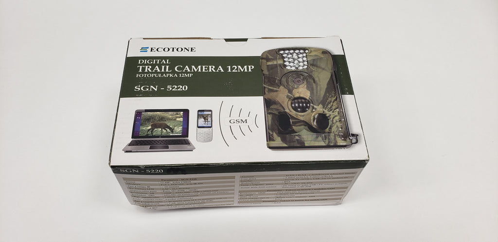 Clearance: Ecotone 12MP Trail Camera, SGN-5220M