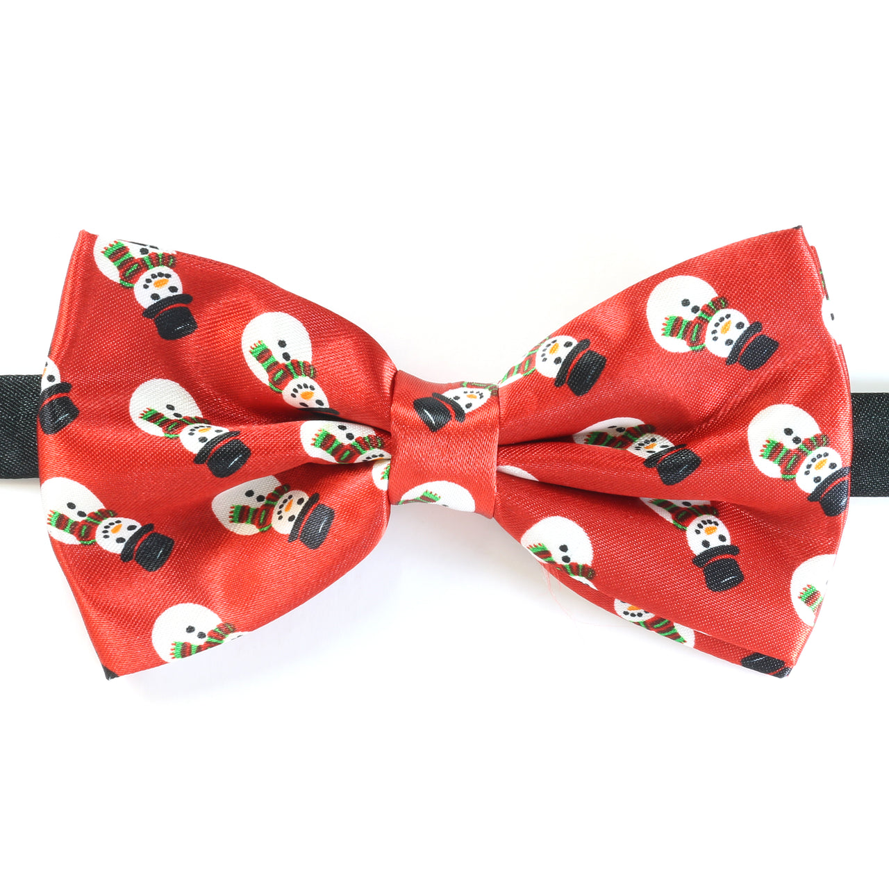 Christmas Bow Tie - Snowman Repeat - Red