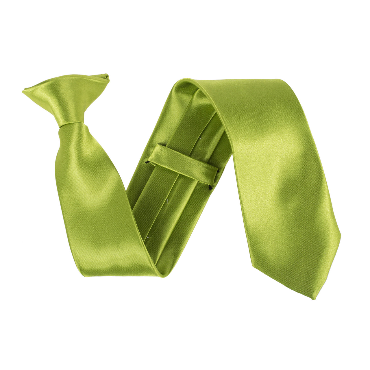 "Wide 3"" Clip On Safety Tie - Apple Green"