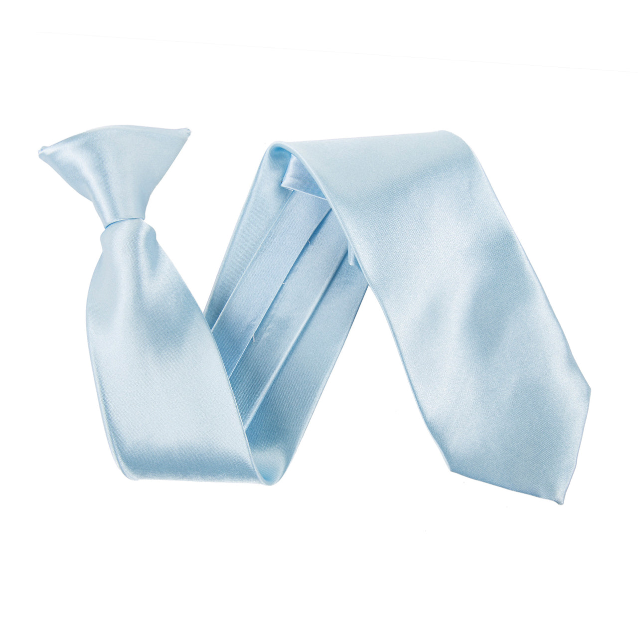 "Wide 3"" Clip On Safety Tie - Baby Blue"