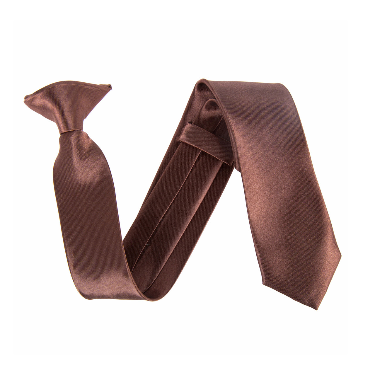 "Wide 3"" Clip On Safety Tie - Brown"