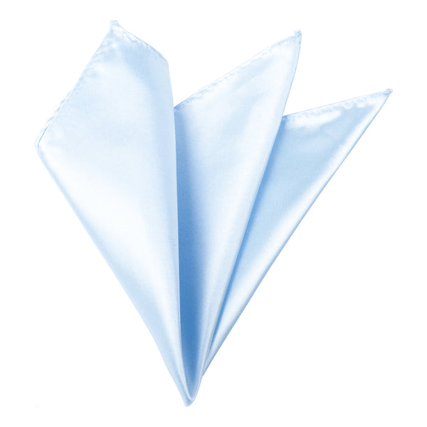 Plain Satin Pocket Square - Baby Blue