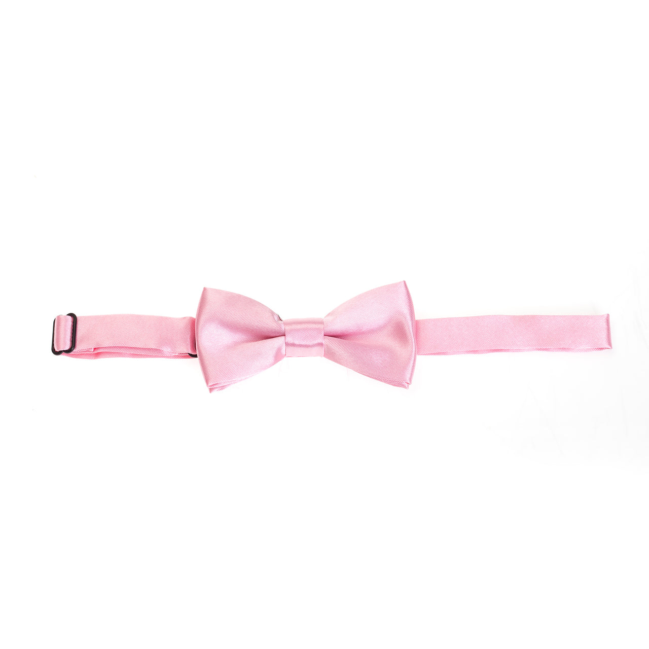 Kids Pre-tied Plain Satin Bow Tie - Baby Pink