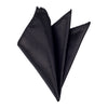Plain Satin Pocket Square - Black