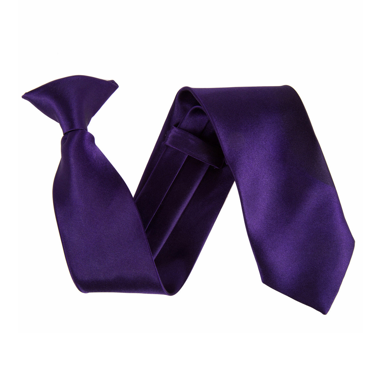 "Wide 3"" Clip On Safety Tie - Cadbury's Purple"