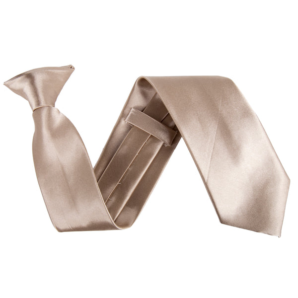 "Wide 3"" Clip On Safety Tie - Champagne"