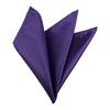 Plain Satin Pocket Square - Cadbury's Purple
