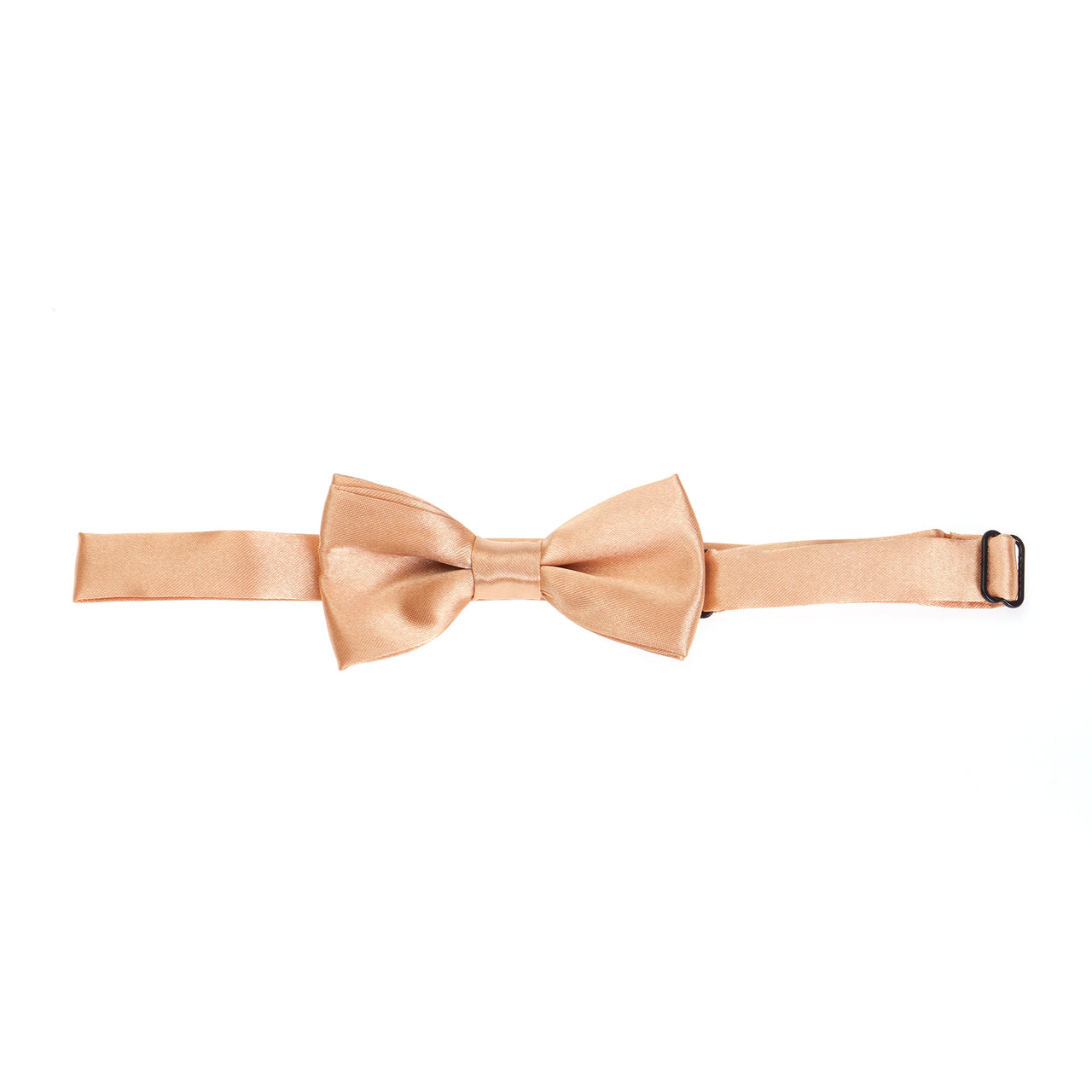 Kids Pre-tied Plain Satin Bow Tie - Copper Gold