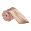 "Wide / Thick 3"" Plain Satin Tie - Copper Gold"