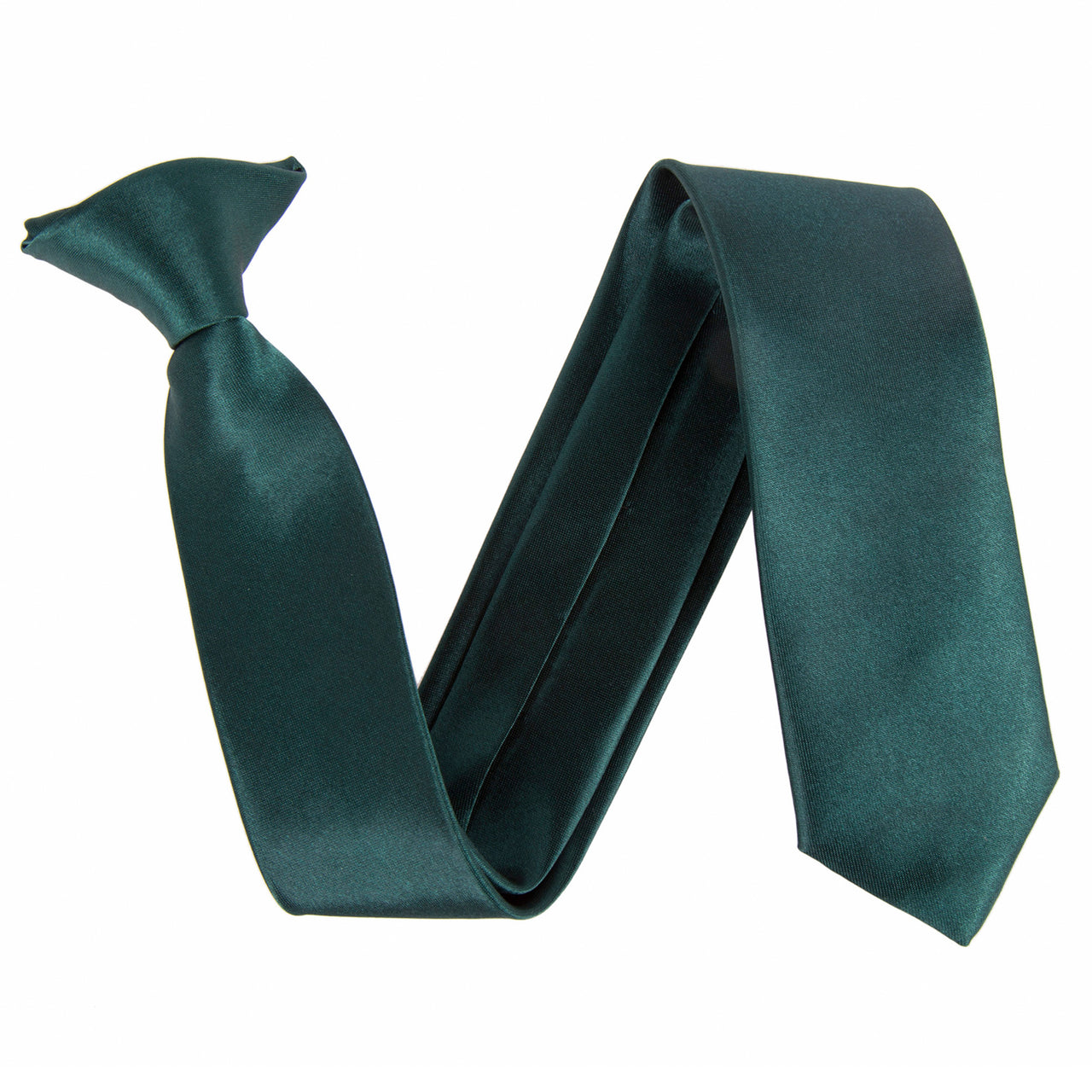 "Slim / Skinny 2"" Clip On Safety Tie - Dark Green"