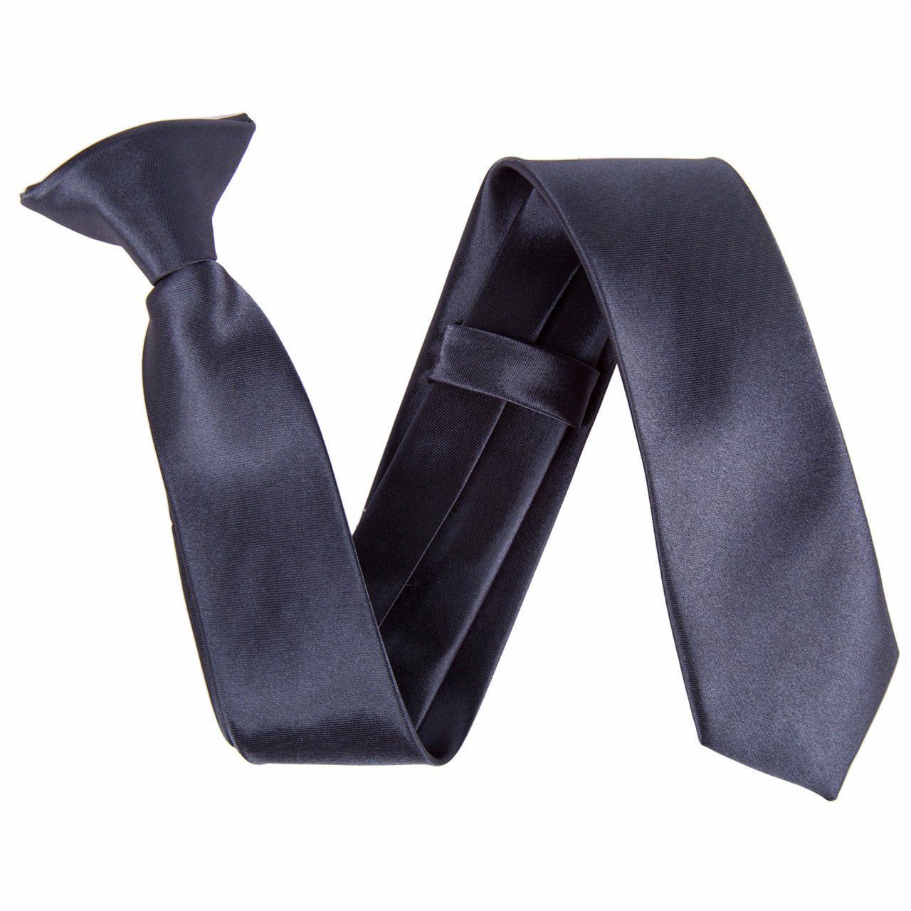 "Slim / Skinny 2"" Clip On Safety Tie - Dark Grey"