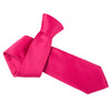 "Premium Wide / Thick 3"" Plain Satin Tie - Deep Pink"