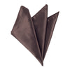 Plain Satin Pocket Square - Dark Brown