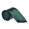 "Wide / Thick 3"" Plain Satin Tie - Dark Green"