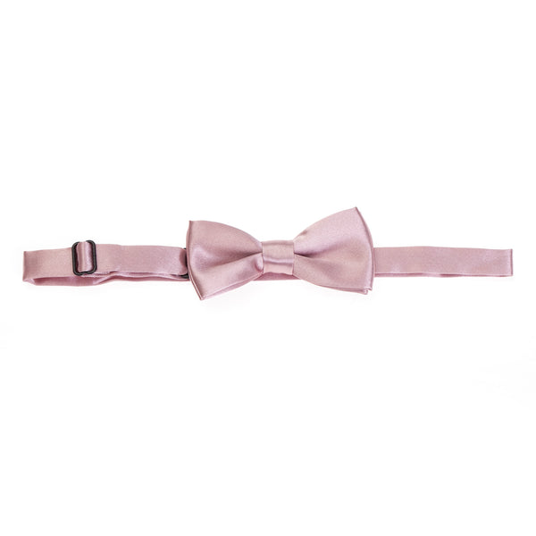 Kids Pre-tied Plain Satin Bow Tie - Dusty Pink