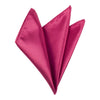 Plain Satin Pocket Square - Fuchsia