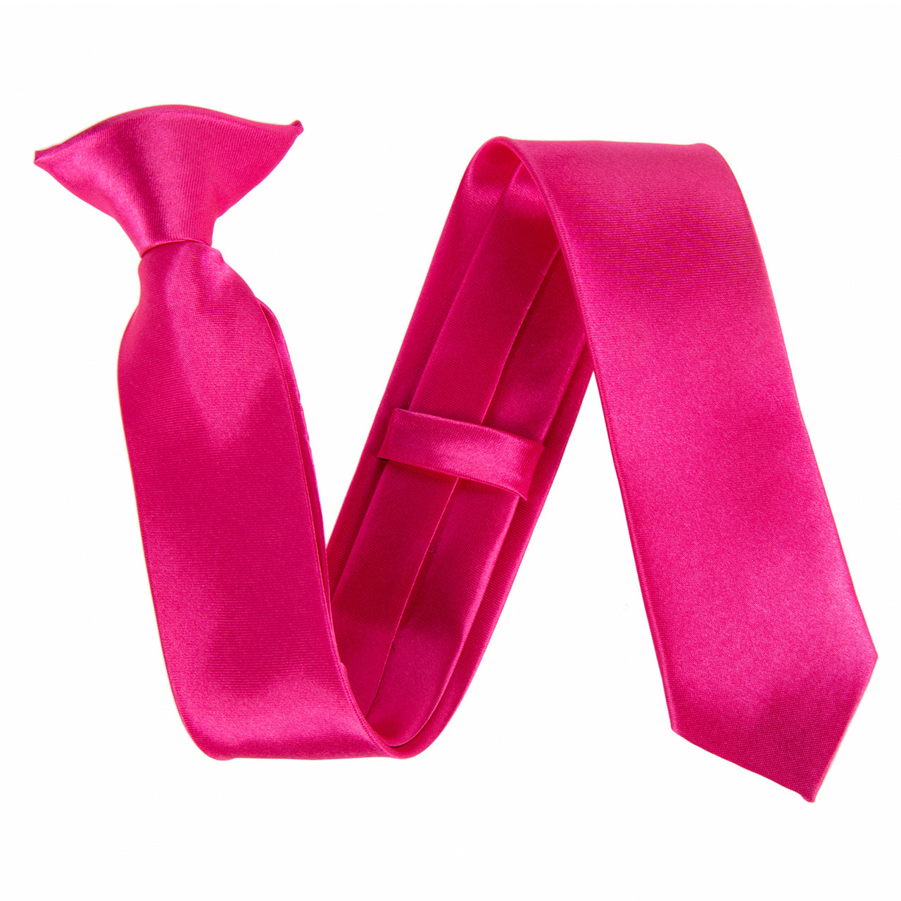 "Slim / Skinny 2"" Clip On Safety Tie - Hot Pink"