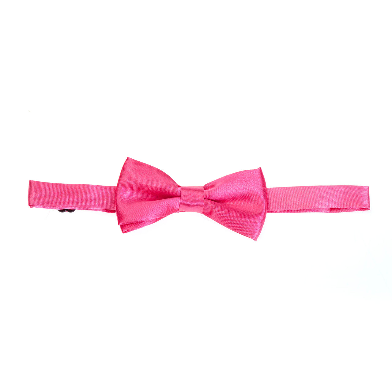 Kids Pre-tied Plain Satin Bow Tie - Hot Pink