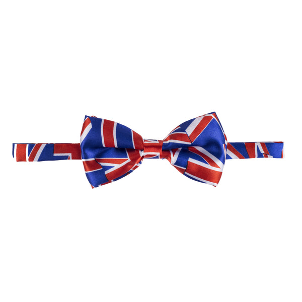 Pre-tied Printed Bow Tie - Blue/Red Union Jack