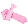 "Premium Wide / Thick 3"" Plain Satin Tie - Light Pink"