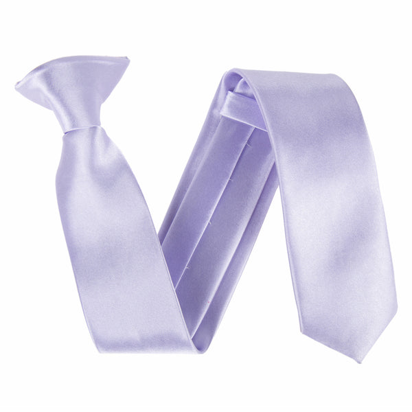 "Slim / Skinny 2"" Clip On Safety Tie - Lilac"