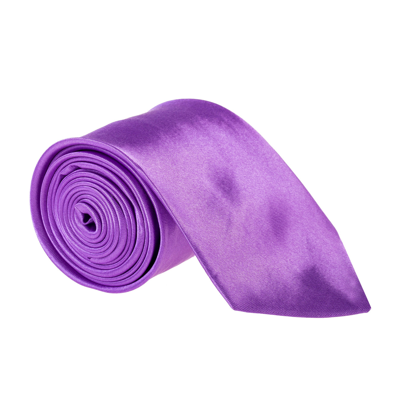 "Wide / Thick 3"" Plain Satin Tie - Light Purple"
