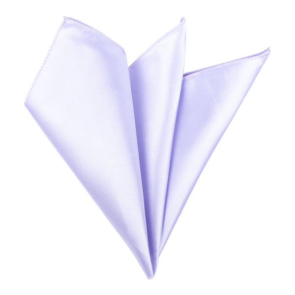 Plain Satin Pocket Square - Lilac