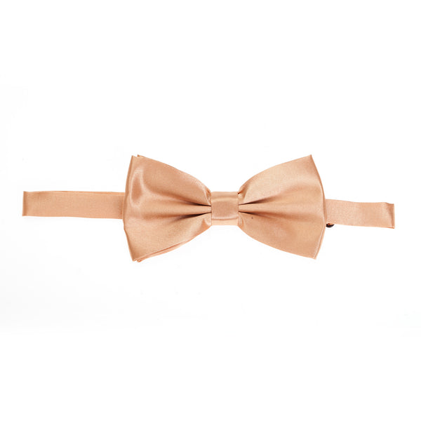 Pre-tied Plain Satin Bow Tie - Copper Gold